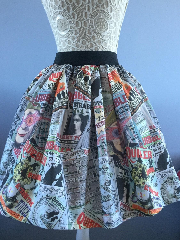 Ladies or girls Harry Potter Quibbler inspired In Other News full skater style skirt