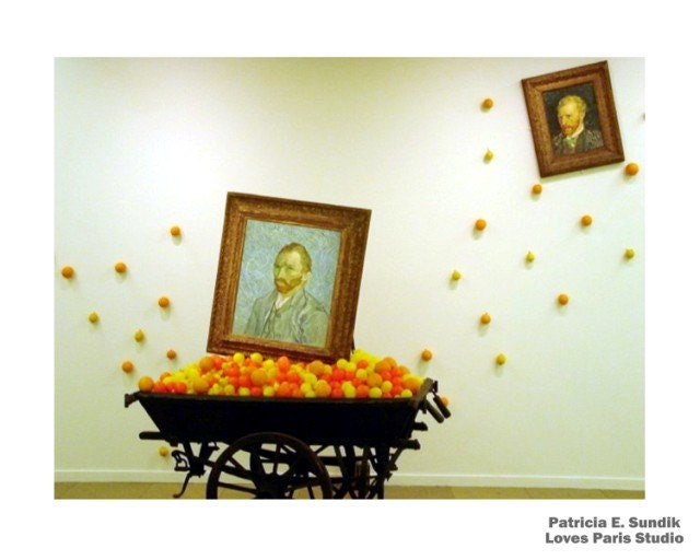 Modern Van Gogh Art Installation Photo, 10 x 8, Pompidou Center, Paris, France