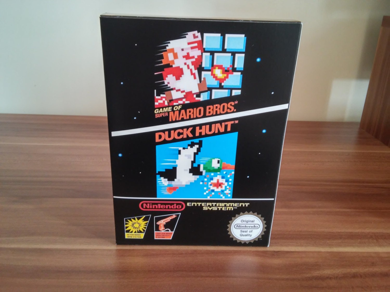 NES Super Mario Bros  Duck Hunt  Repro Box NO Game Included