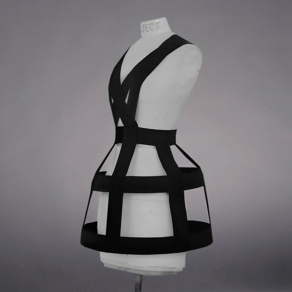 Black Cage dress S