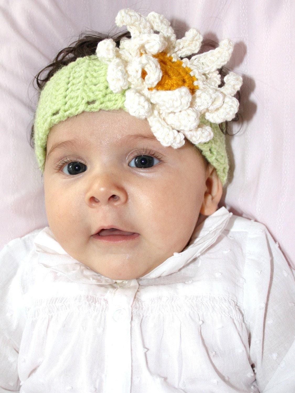 DAISY Newborn baby headbandphotography props Crochet by Ebruk
