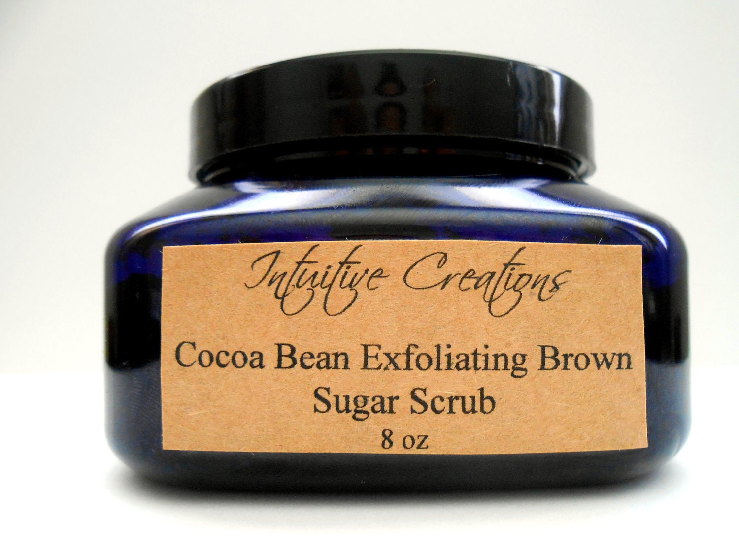 Organic Natural Cocoa Bean Exfoliating Brown Sugar Scrub 8 oz