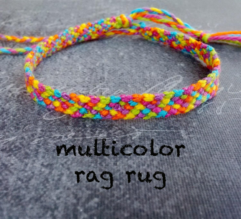 Rag Rug 6 Strings Friendship Bracelet By StrungOutBracelets