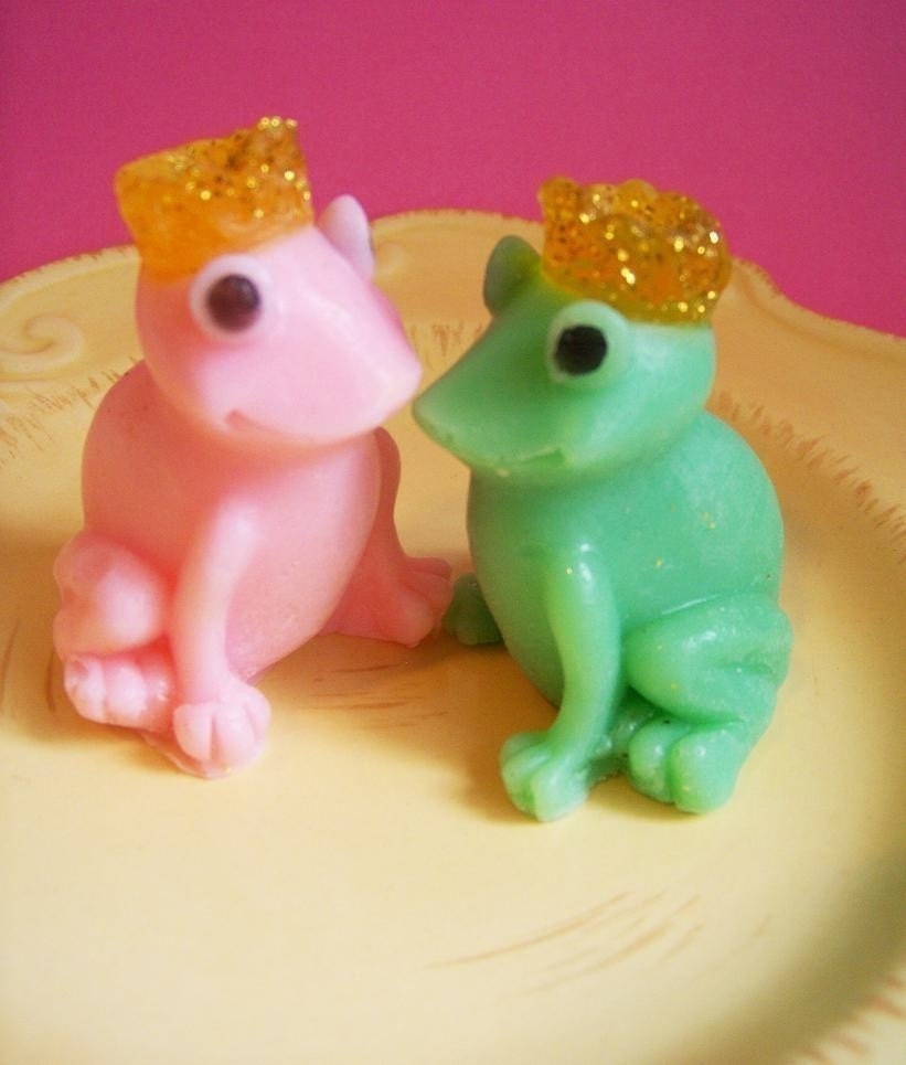 Cucumber Melon Frog Soap Set