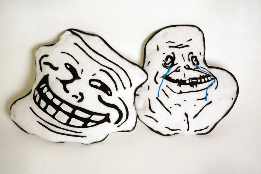 Troll face forever alone