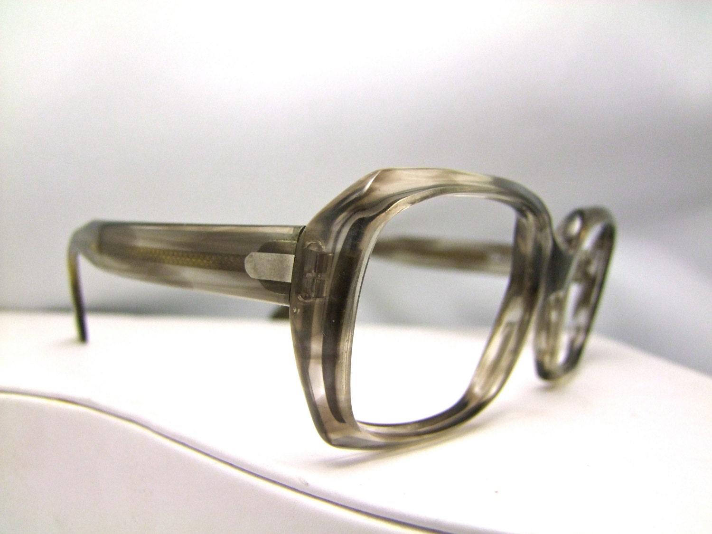 Best Eyeglass Frames For Thick Lenses : 1960 s Geeky Eyeglasses // 60s 70s Vintage Frames by ...