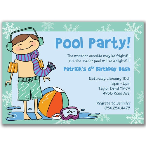 Swim Party Invitation with amazing invitations template