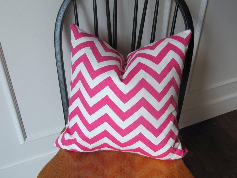 Pink cheveron - decorative pillow cover 18x18inch