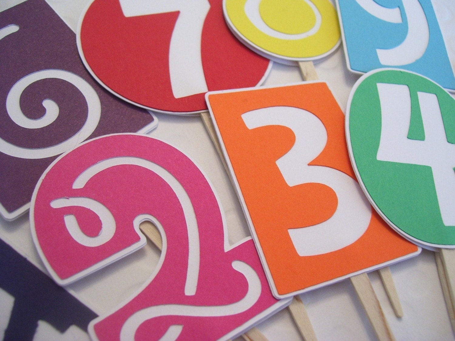 Pick Your Number Cupcake Toppers