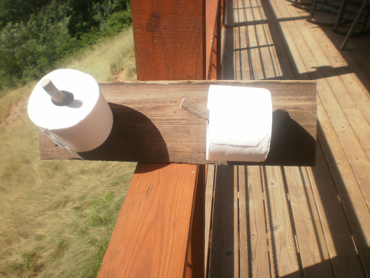 Items Similar To Rustic Two Roll Toilet Paper Holder On Etsy