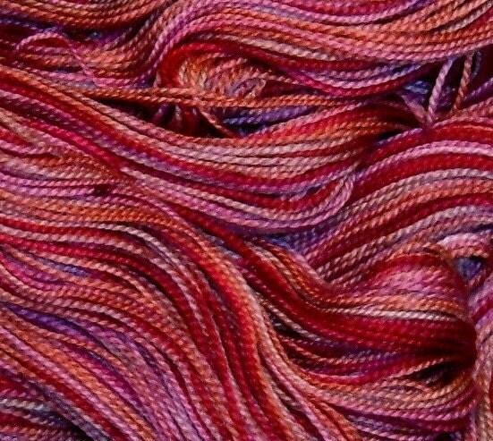 Hand painted Superwash Merino Wool Sock Yarn VICTORIAN ROSE free shipping