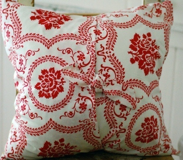 Cottage Chic Decorative Pillow Cover 18x18 Reversible