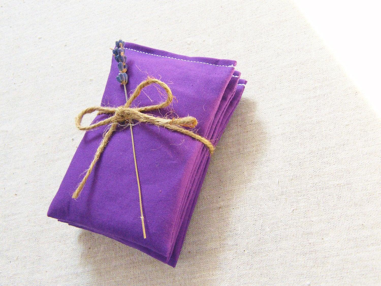 Lavender Sachets Royal Purple Set of 3 Organic Eco-Friendly