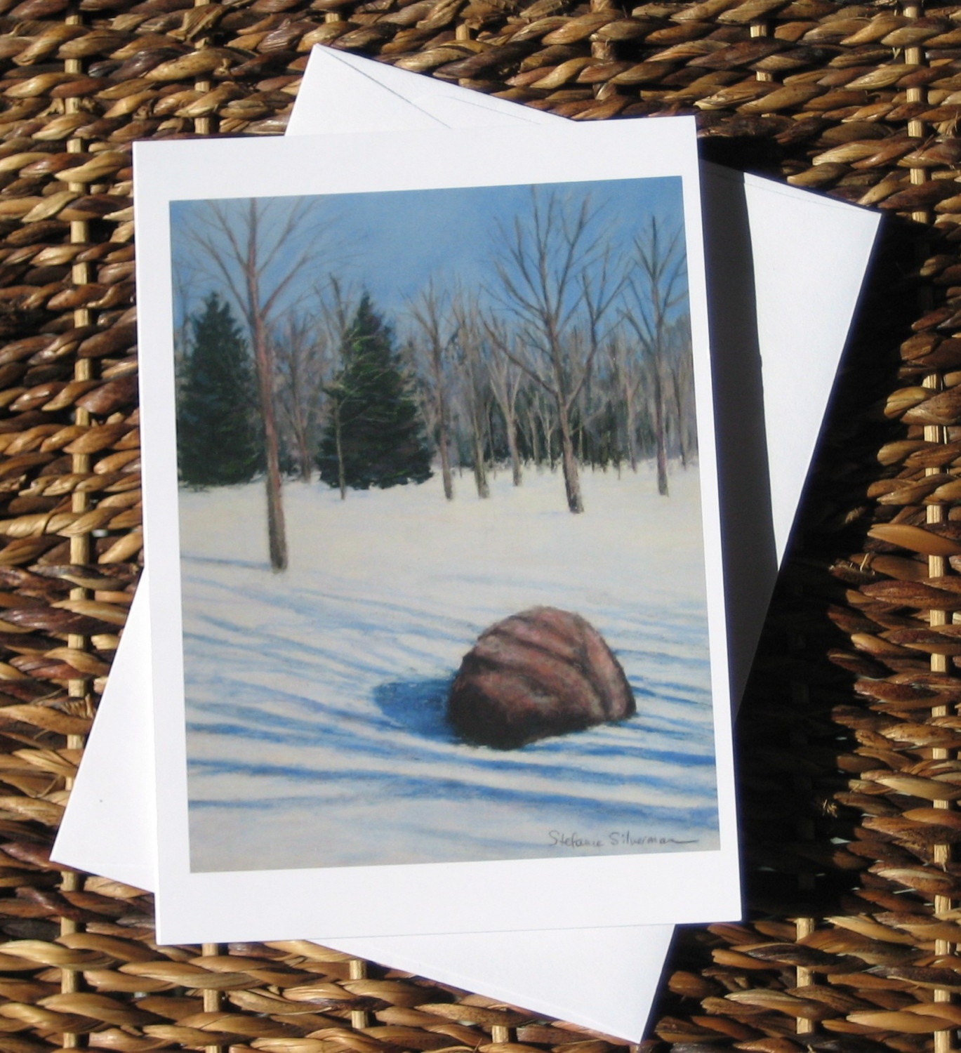 Winter Landscape note card with envelope