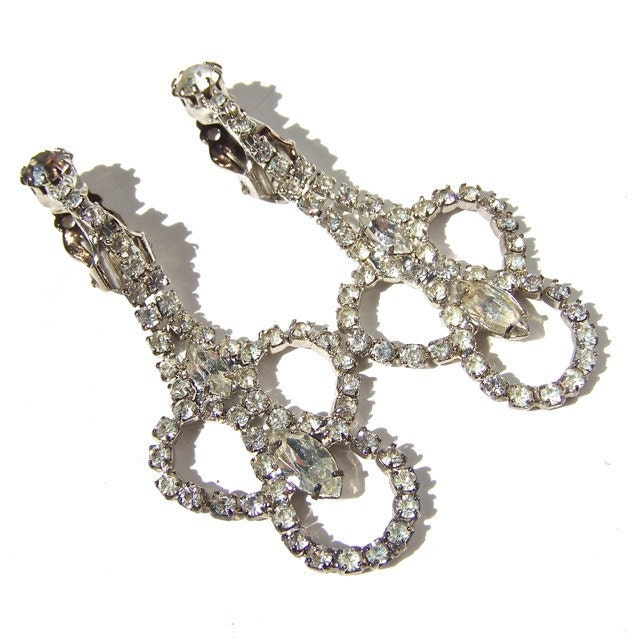 Wedding Jewelry Chandelier Earrings Vintage by dabchickvintagegems from etsy.com