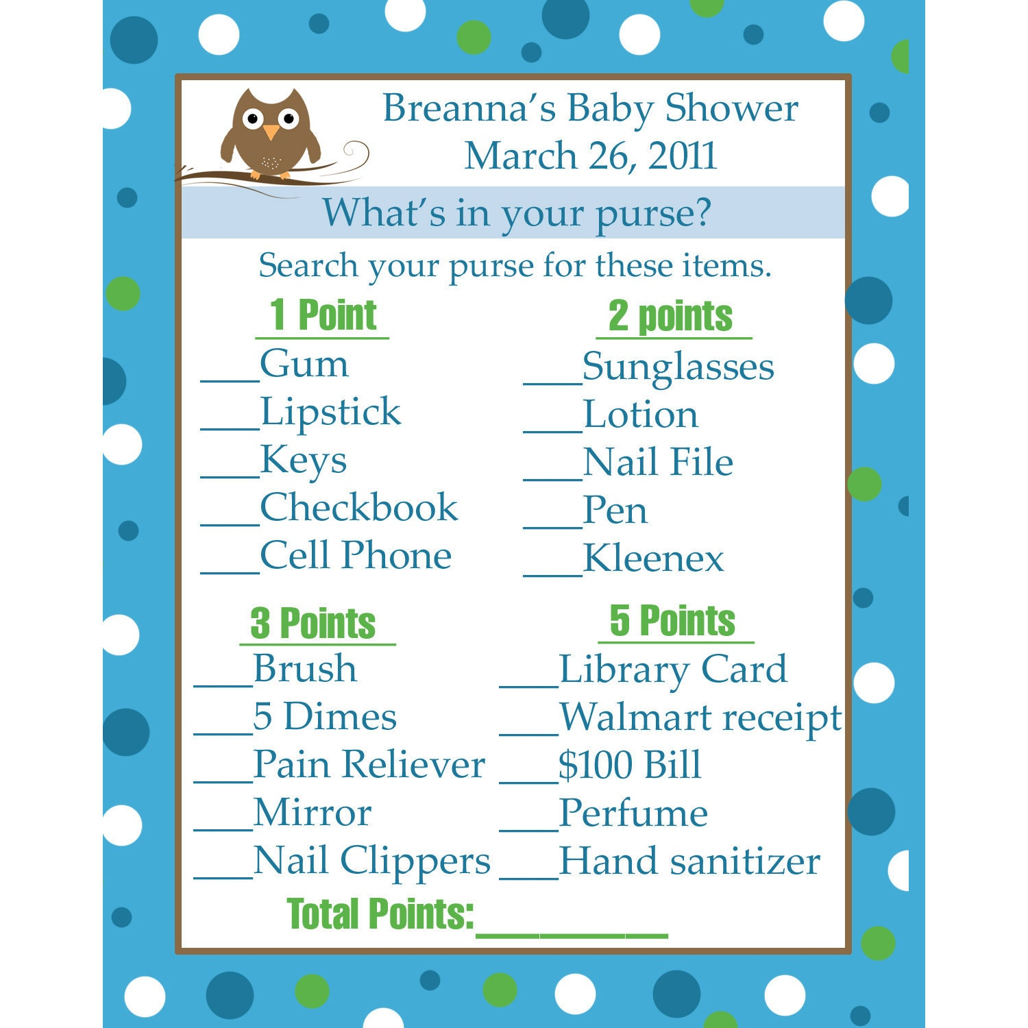 24 personalized baby shower game cards what 39 s in by partyplace