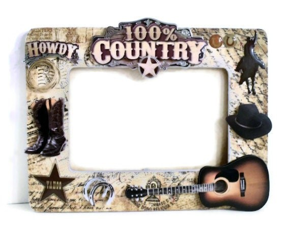 fathers day frame wooden picture frame cowboy country style