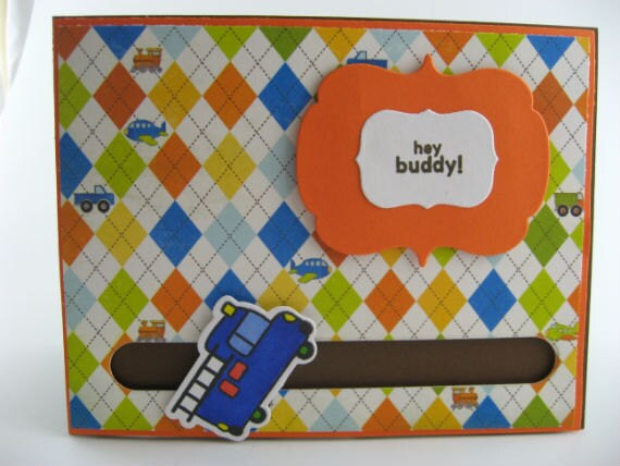 Interactive Truck Birthday Card for Boys