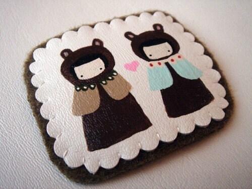 love Bears Brooch