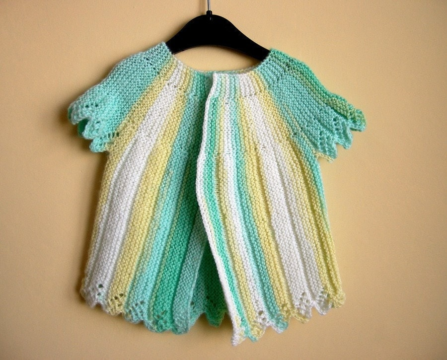 Cute Candy Baby Cardigan- AOD Hand Knitted, Gift for baby