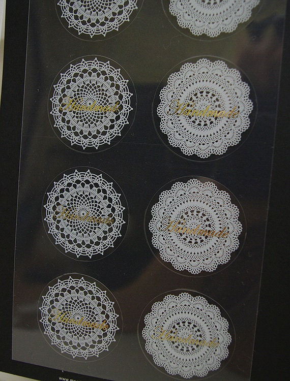 Doily Pattern Stickers