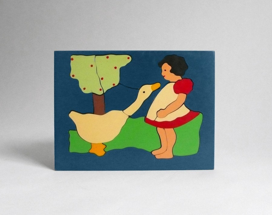 Girl and Goose Puzzle