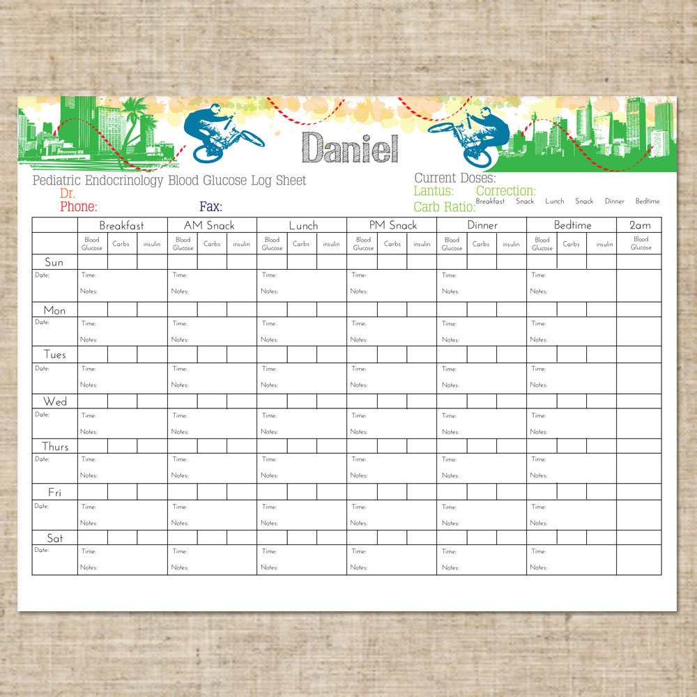 This is a graphic of Decisive Diabetic Logs Printable