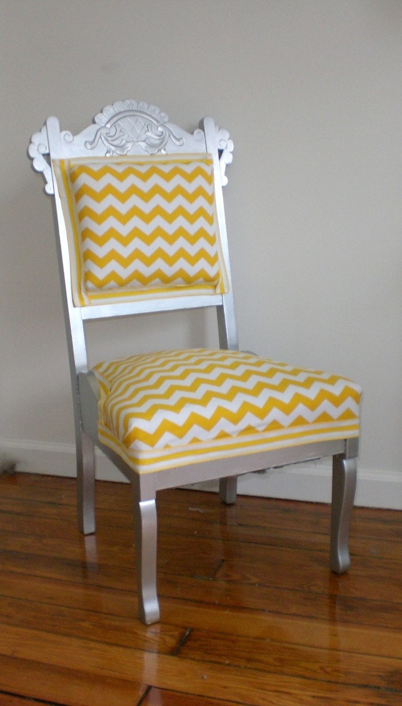 Cheery Yellow Chevron Chair SALE