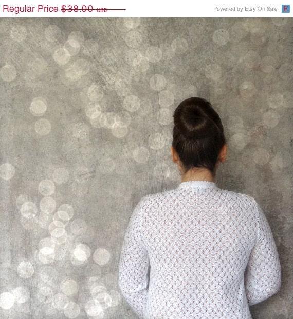 75% OFF White Lace Sweater // 60s Vintage Cardigan // Button Up Sweater // Wedding Sweater // Romantic White Lace // Bokeh - Rakunshop