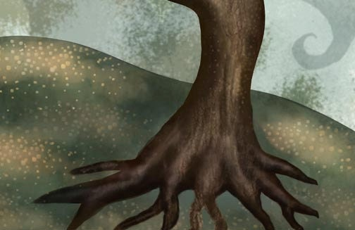 Brown Tree Fantasy Art Print