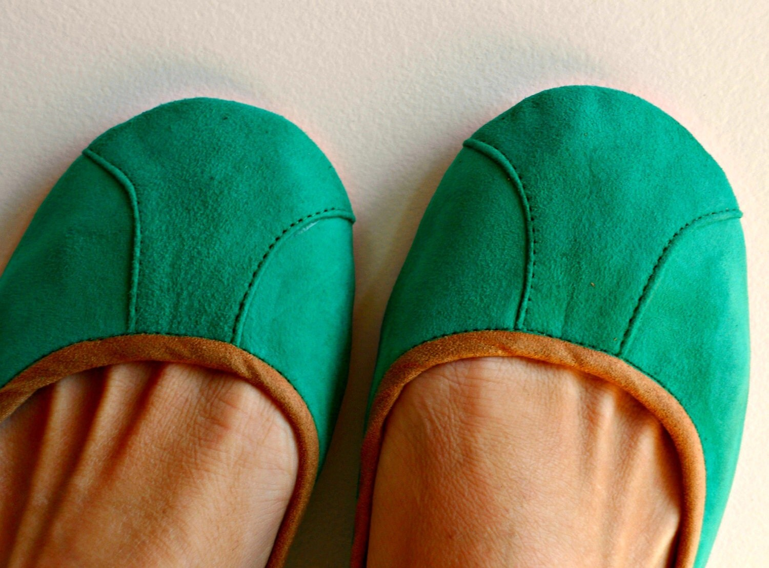 ISLANDER- Ballet Flats - Suede Shoes - 39- SEA GREEN. Available in different colours & sizes - lolliette