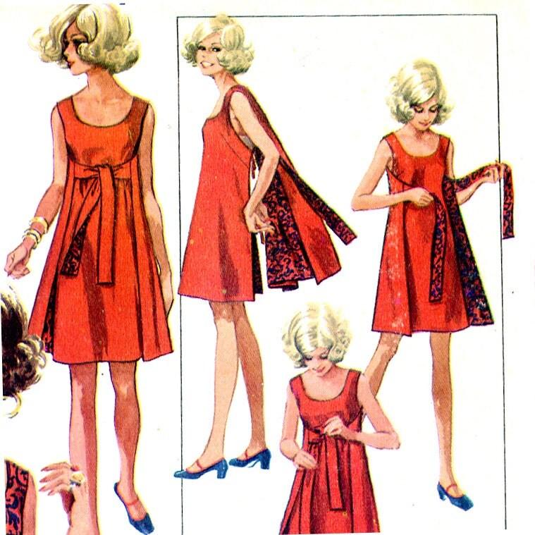 Vintage 1960's Wrap Around Dress Pattern Size by ...