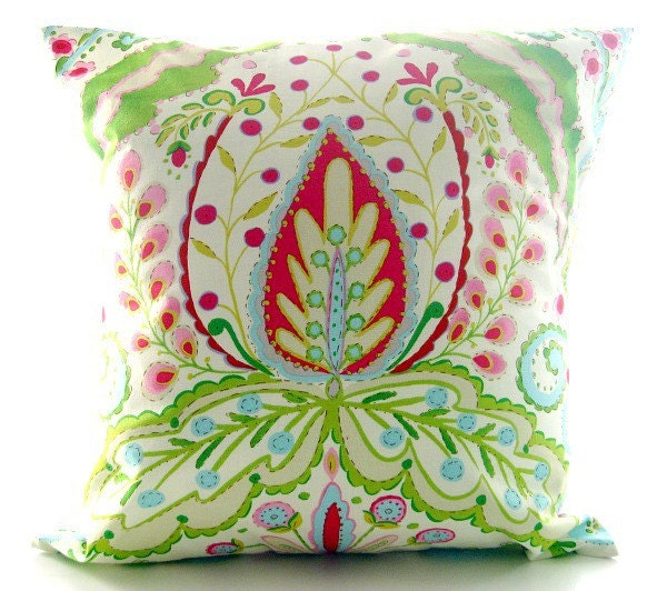 Kumari Garden, Teja in Pink, throw pillow cover 16 inch
