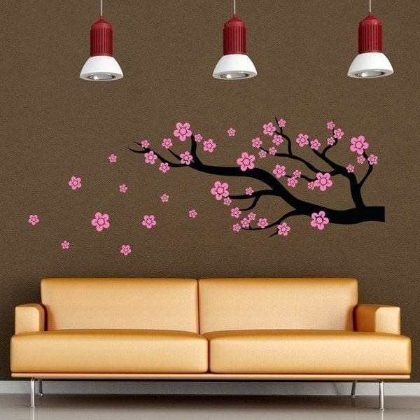 Cherry Blossom Branch vinyl decal stickers