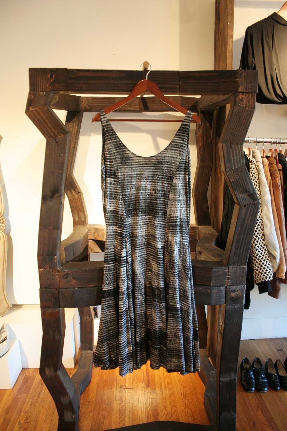 90's Different Shades of Grey Striped Sleeveless Dress