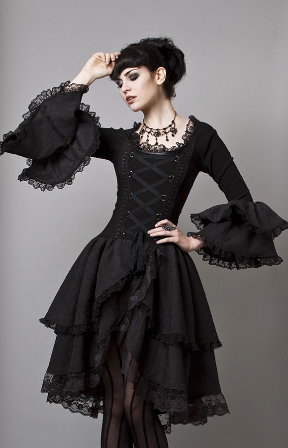 Gothic Marie Antoinette Gown-Made to Measure (Your Size)