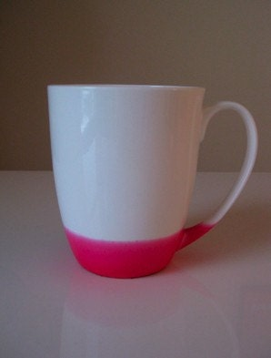 Bottom Dipped Coffee Mug - Pink