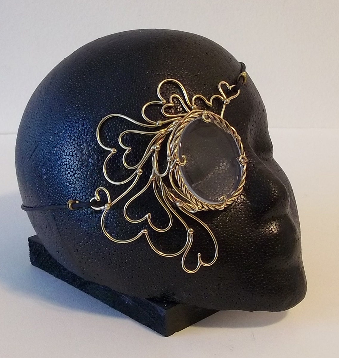 Bronze Queen of Hearts Steampunk Monocle - BronzeSmith