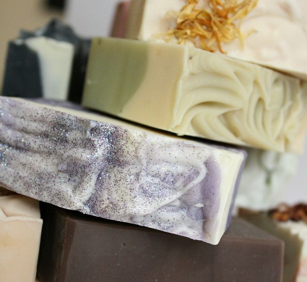 6 Handmade Cold Process Soaps - you choose the scents