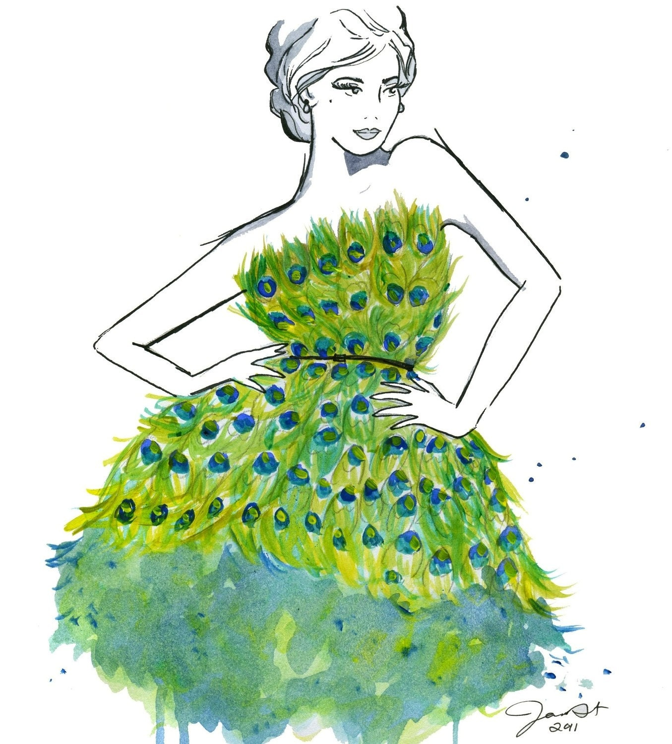 Peacock Couture print
