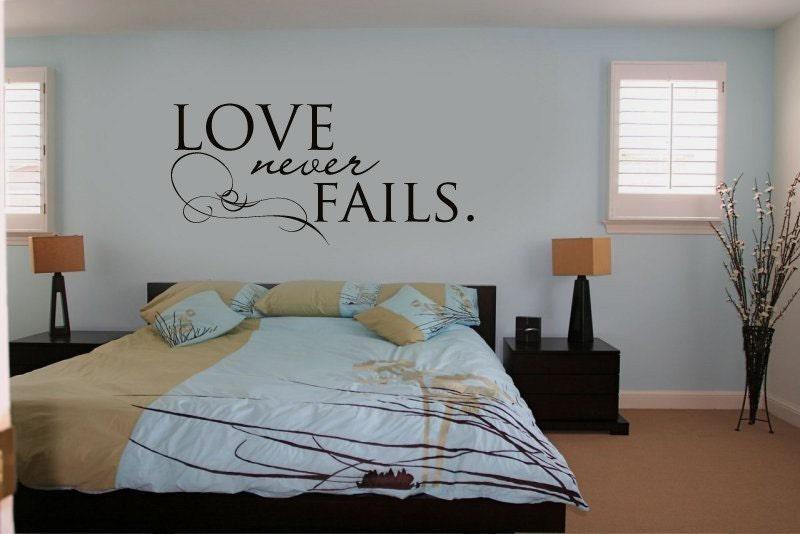 Vinyl Wall Sticker Decal Art - Love Never Fails. From urbanwalls