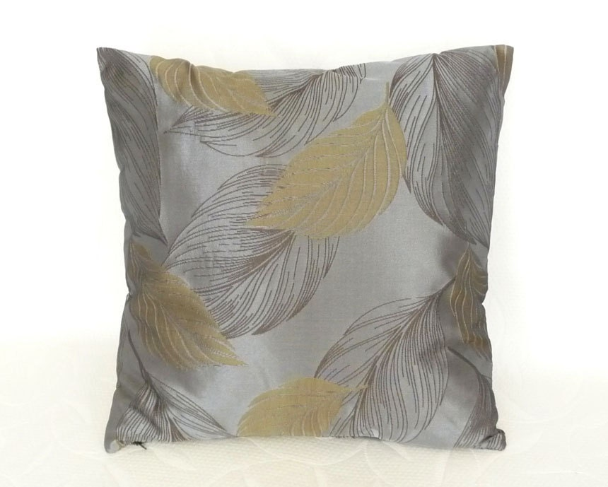 Throw Pillows For Sage Green Couch : Contemporary Pillow Modern Pillows with Leaves by PillowThrowDecor