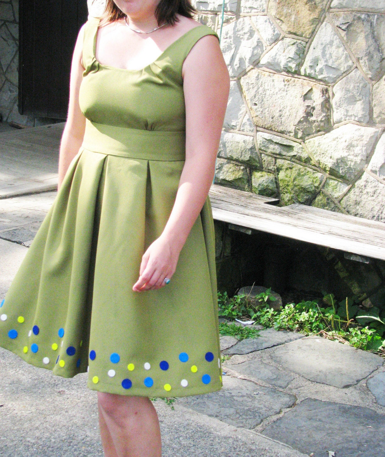 My 50s Style Party Dress--Handmade in Your Size
