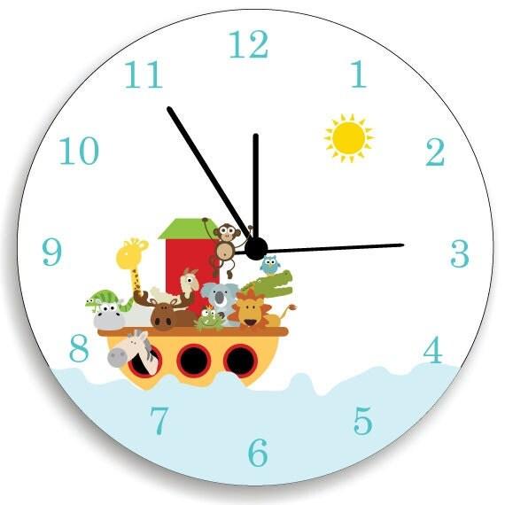 Children Bedroom Wall Clock Noah 39 S Ark Nursery By Kidodesignstudio