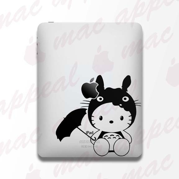 iPad Decal - Hello Kitty in Totoro Costume. From macappeal