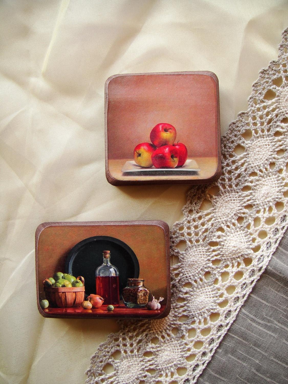 Весеннее настроение магниты - комплект из 2 - подарок для друга