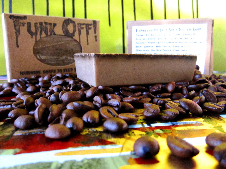 Espresso Yoself. Vegan Shea Butter Coffee Soap. 4.5oz.
