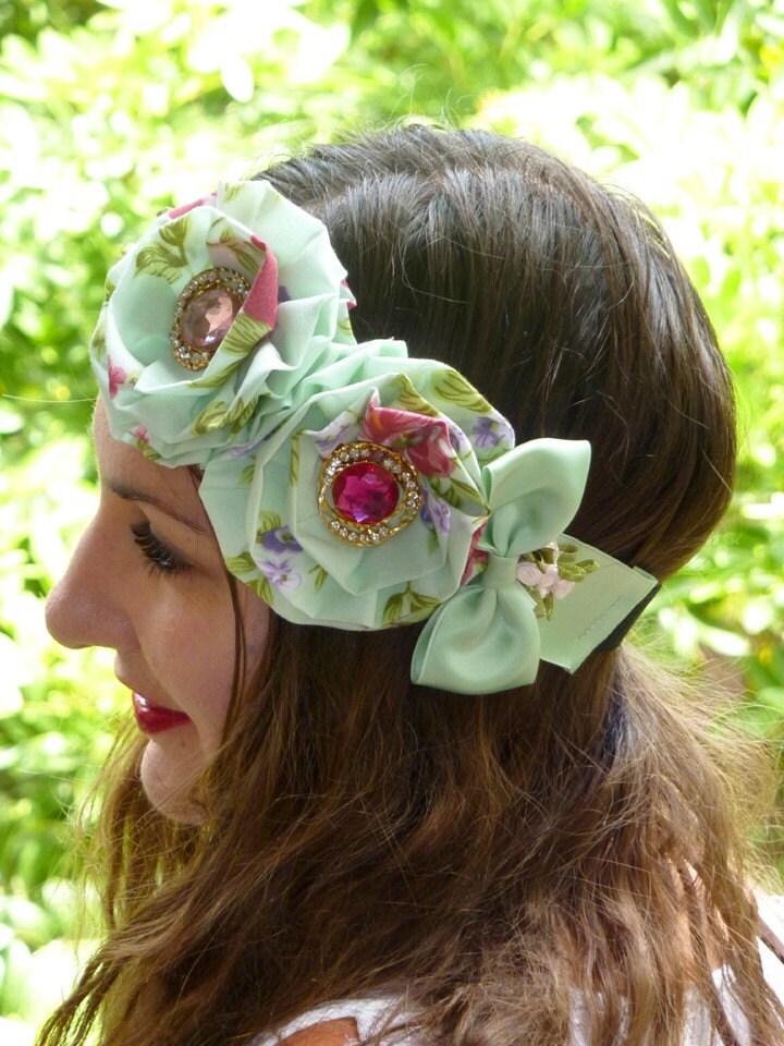 Mint Lolita Headband by Mademoiselle Mermaid