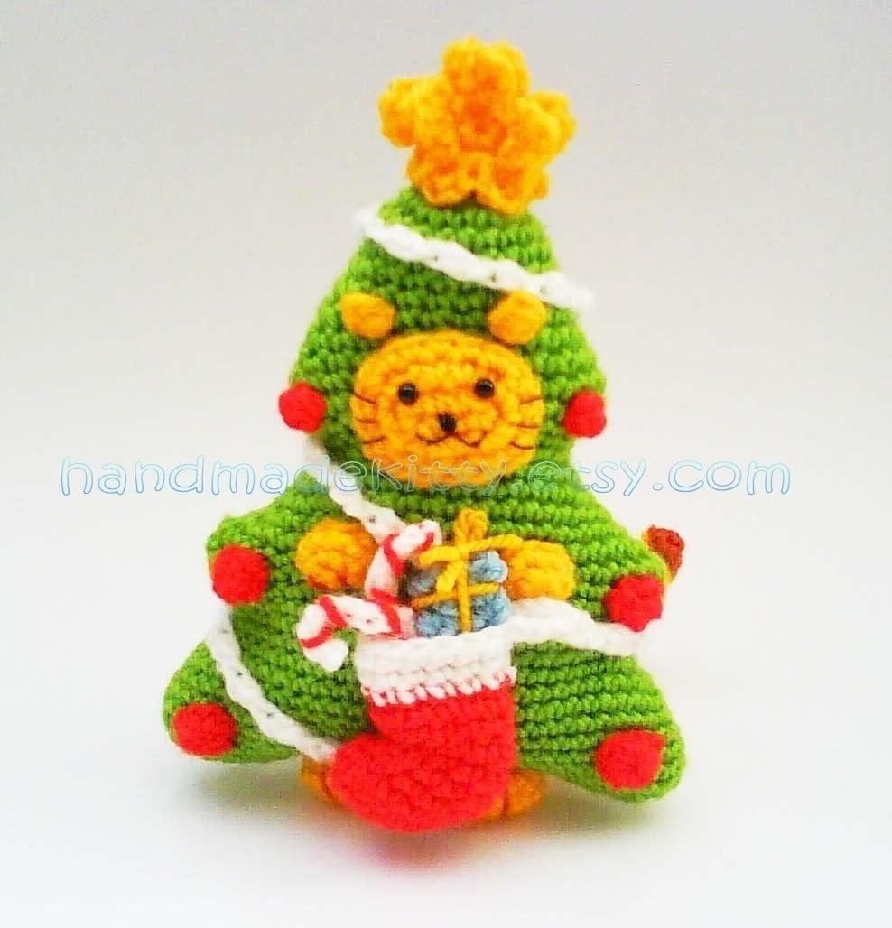 Kitty Cat Christmas Tree Costume PDF Crochet Pattern