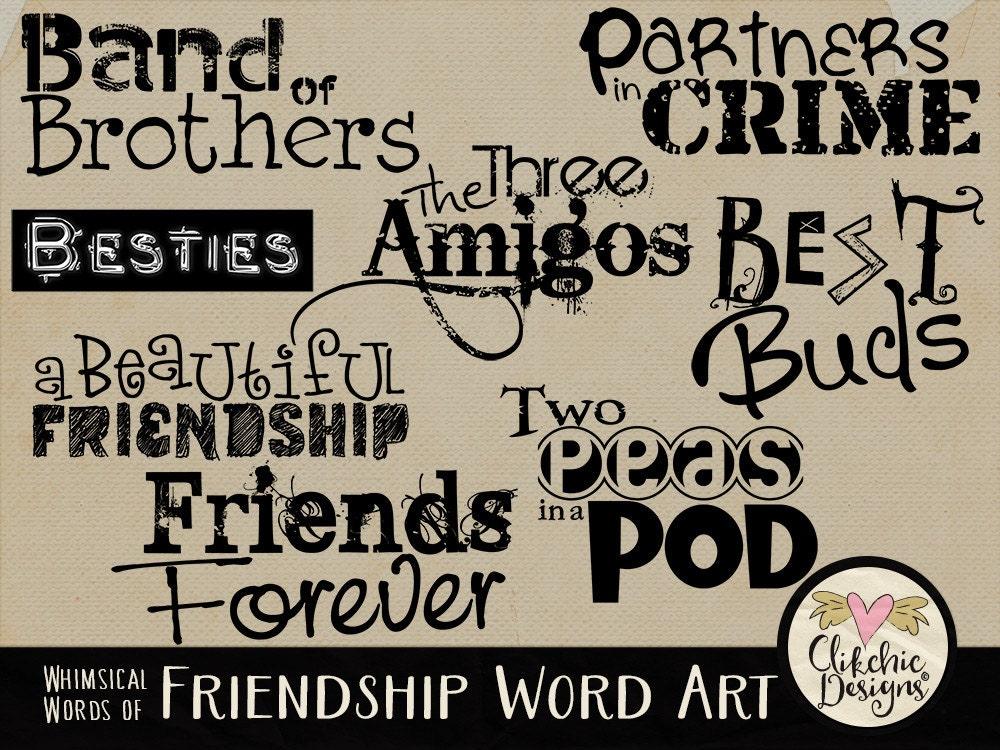 Friendly word art